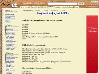 Náhled odkazu http://ld.johanesville.net/perlicky/03-jazykova-nej-a-jine-hricky