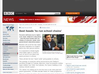 Náhled odkazu http://news.bbc.co.uk/2/hi/uk_news/education/8125331.stm