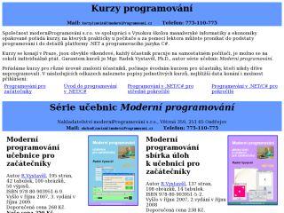 Náhled odkazu http://www.moderniprogramovani.cz/