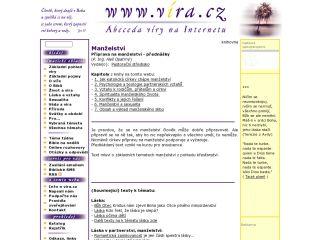 Náhled odkazu http://www.vira.cz/Texty/Knihovna/Manzelstvi.html