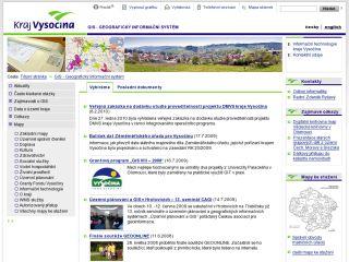 Náhled odkazu http://www.kr-vysocina.cz/gis.asp