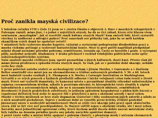 Náhled odkazu http://vesmir.msu.cas.cz/Pavel/mayove_zanik.html