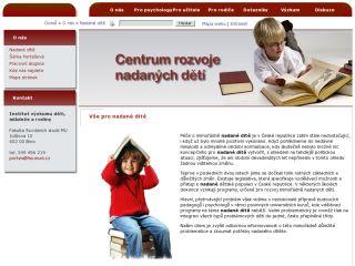 Náhled odkazu http://www.nadanedeti.cz/