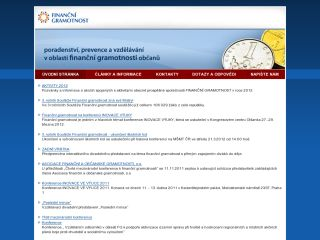 Náhled odkazu http://www.financnigramotnost.eu/cs/