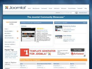 Náhled odkazu https://showcase.joomla.org/