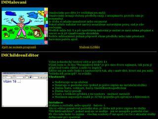 Náhled odkazu http://www.imega.cz/develop/freeware.html#IMChildrenEditor