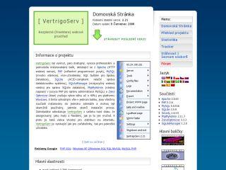 Náhled odkazu http://vertrigo.sourceforge.net/?lang=cz