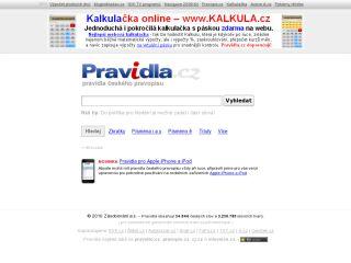 Náhled odkazu http://www.pravidla.cz/