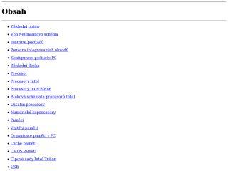 Náhled odkazu http://www.fi.muni.cz/usr/pelikan/ARCHIT/TEXTY/OBSAH.HTML