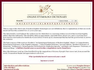 Náhled odkazu http://www.etymonline.com/index.php