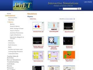 Náhled odkazu https://phet.colorado.edu/en/simulations/category/physics