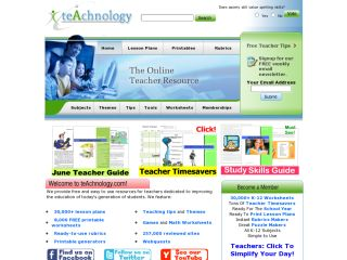 Náhled odkazu http://www.teach-nology.com