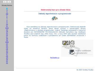 Náhled odkazu http://algoritmizace.asp2.cz/algo/index_egen.html