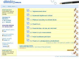 Náhled odkazu http://cestina.diktaty.cz