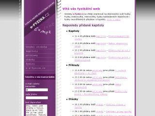 Náhled odkazu http://www.e-fyzika.cz