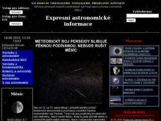 Náhled odkazu http://www.astro.sci.muni.cz/