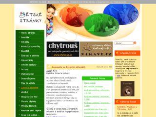 Náhled odkazu http://www.detskestranky.cz/?s=logopedie