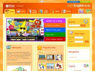 Náhled odkazu http://learnenglishkids.britishcouncil.org/en