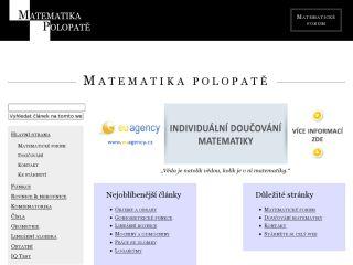 Náhled odkazu http://www.matematika.cz/