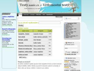 Náhled odkazu http://testy.nanic.cz/