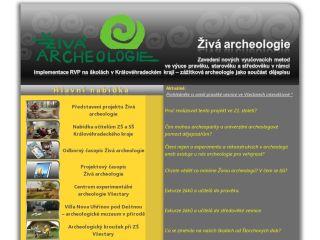 Náhled odkazu http://www.zivaarcheologie.cz/