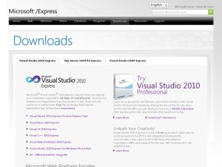 Náhled odkazu https://www.visualstudio.com/vs/visual-studio-express/