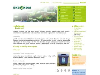 Náhled odkazu http://www.ekokom.cz/