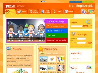 Náhled odkazu http://learnenglishkids.britishcouncil.org/