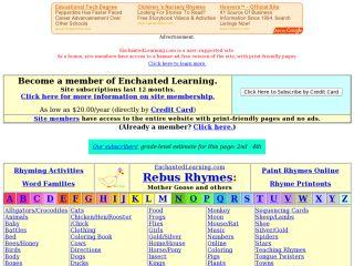 Náhled odkazu http://www.enchantedlearning.com/Rhymes.html