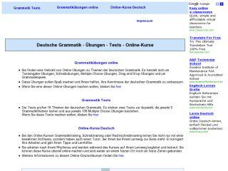 Náhled odkazu http://www.grammatiktraining.de/