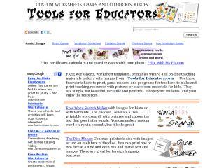 Náhled odkazu http://www.toolsforeducators.com