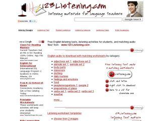 Náhled odkazu http://www.123listening.com