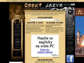 Náhled odkazu http://www.cesky-jazyk.cz/cjl/
