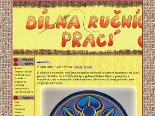 Náhled odkazu http://dilna-rucnici-prace.blog.cz/