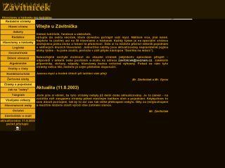 Náhled odkazu http://zavitnicek.sweb.cz/index.htm