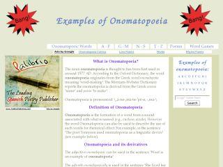 Náhled odkazu http://www.examples-of-onomatopoeia.com