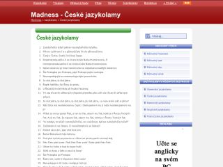 Náhled odkazu http://www.madness.sk/jazykolamy-ceske.php