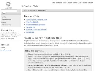 Náhled odkazu http://www.converter.cz/prevody/rimska-cisla.htm