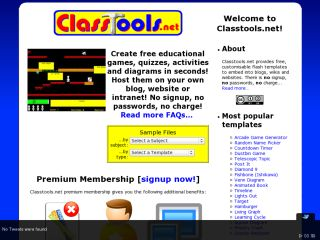 Náhled odkazu http://www.classtools.net/