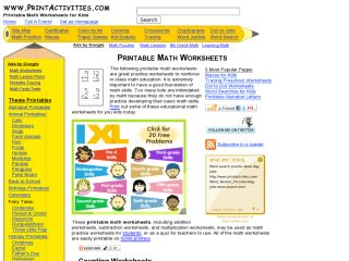 Náhled odkazu http://www.printactivities.com/index.html