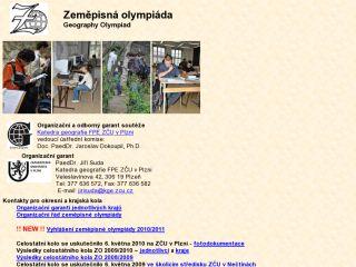 Náhled odkazu http://www.kge.zcu.cz/cgs/ZO/index.htm