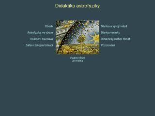 Náhled odkazu http://www.physics.muni.cz/astrodidaktika/
