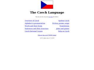 Náhled odkazu http://www.czech-language.cz/