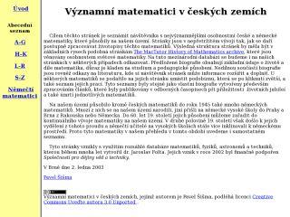 Náhled odkazu http://web.math.muni.cz/biografie/index.html