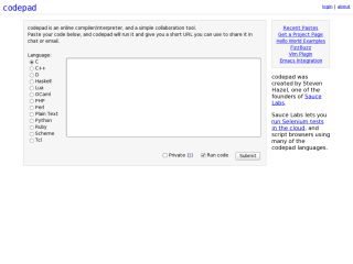 Náhled odkazu http://codepad.org/