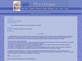 Náhled odkazu http://phonetique.free.fr/mdeprof.htm