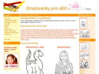 Náhled odkazu http://www.omalovanky-pro-deti.cz/