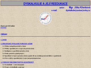 Náhled odkazu http://mujweb.cz/dyskalkulie/?redirected=1486640621