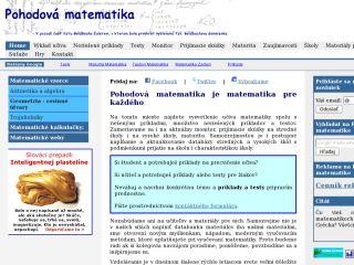 Náhled odkazu http://pohodovamatematika.sk/