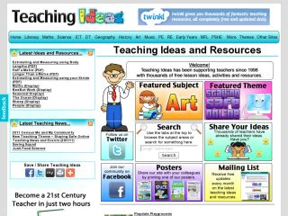 Náhled odkazu http://www.teachingideas.co.uk/